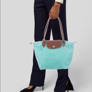Turquoise medium Longchamp Le Pilage Bag